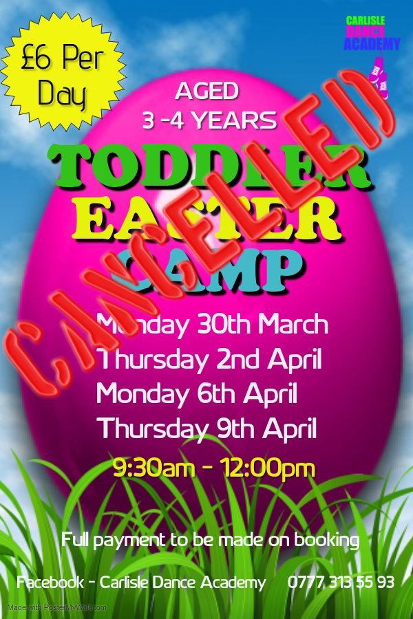 Cancelled – Toddler Easter Camp 2020 – Cancelled