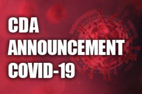 CDA ANNOUNCEMENT COVID-19 JANUARY 2021